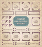 Vintage frames, corners and calligraphic design elements Stock Photo