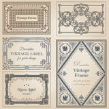 Vintage frames and design elements Stock Photos