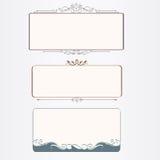 Vintage frames. With elegant fliligree and flourishes Stock Photography