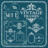Vintage frames with floral pattern Stock Photo