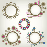 Vintage frames with flowers Royalty Free Stock Photo