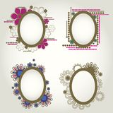 Vintage frames with flowers Royalty Free Stock Images