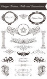 Vintage Frames, Frills and Decorations Stock Photos