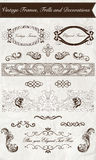 Vintage Frames, Frills and Decorations Stock Image