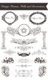Vintage frames and frills. Original vintage frames and frills royalty free illustration