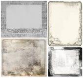 Vintage frames, grunge texture paper Stock Images