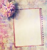 Vintage frames on grungy floral background Royalty Free Stock Photography