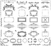 Vintage frames and headers. Collection of vintage frames and headers Royalty Free Stock Photography