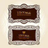 Vintage frames labels.  decor Stock Images