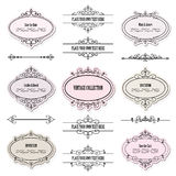 Vintage frames, labels and dividers set. Royalty Free Stock Photo