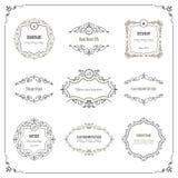 Vintage frames and labels set. Calligraphic design elements. For wedding or scrapbook design Royalty Free Stock Photography