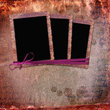 Vintage frames on leather background. Royalty Free Stock Image