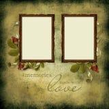 Vintage frames on old grunge background Stock Image