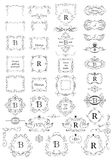 Vintage frames, page rulers and angles collection for boutique, restaurant, cafe, hotel, jewelry and fashion Stock Photography