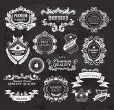 Vintage frames and ribbons Stock Photography
