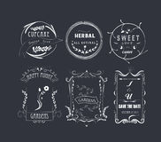 Vintage Frames, Scroll Elements and Floral Ornaments Royalty Free Stock Photo
