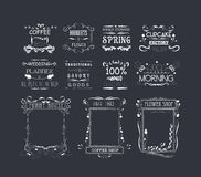 Vintage Frames, Scroll Elements and Floral Ornaments Royalty Free Stock Image