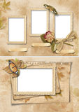 Vintage frames set. Family album. Vintage background with photo frame. family album stock illustration