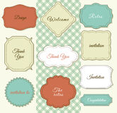 Vintage Frames on Shabby Chic background Stock Photography
