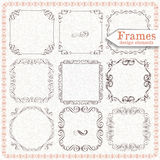 Vintage frames square Royalty Free Stock Photos