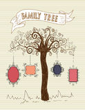 Vintage frames tree concept Stock Photography