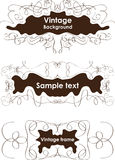 Vintage frames, vignette borders Stock Photo