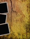 Vintage frames on wooden background Stock Images
