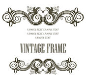 Vintage framing header and footer Stock Photos