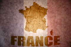 Vintage france map Stock Photos