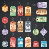 Vintage free price tag vector web collection stock illustration