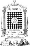 Vintage antique freemason illustration. Vintage freemason illustration with signs stock illustration