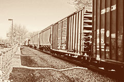 Vintage freight train Royalty Free Stock Photos