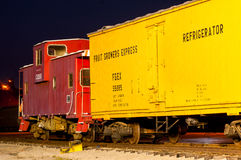 Vintage freight train royalty free stock photo