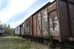 Vintage freight wagons Royalty Free Stock Photography