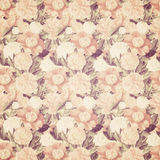 Vintage French Floral Shabby Floral Chic Wallaper Stock Photography