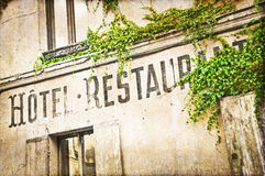 Vintage french hotel facade Royalty Free Stock Image