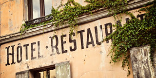 Vintage french hotel sign Stock Image