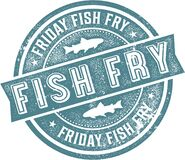 Free Vintage Friday Fish Fry Sign Stock Images - 170217404