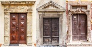 Vintage front doors Stock Photo