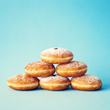 Vintage Frosted Donuts stock photo