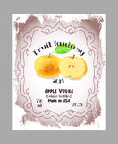 Vintage fruit alcohol labels. Royalty Free Stock Images