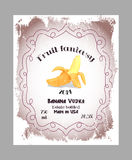 Vintage fruit alcohol labels. Royalty Free Stock Photography