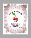 Vintage fruit alcohol labels. Royalty Free Stock Photo