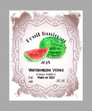 Vintage fruit alcohol labels. Royalty Free Stock Photos