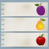 Vintage fruit banner Stock Photography