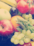 Vintage fruit and vegetables Stock Photography