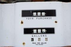A vintage fuel pump meter Stock Image