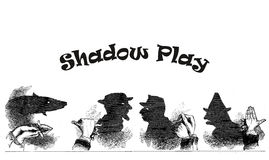 Vintage fun, puppet shadow play Royalty Free Stock Image
