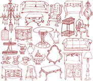 Vintage furniture and accessories. Stock Photography