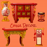 Vintage furniture in the Chinese style Stock Image